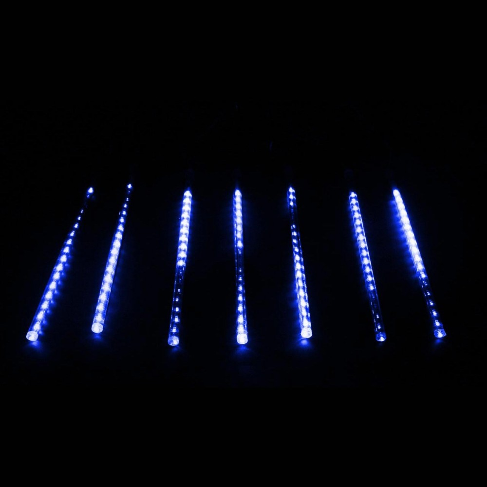 "LED электрогигрянда ""Тающие сосульки-трубки"", синие, 7 шт, 30 см"
