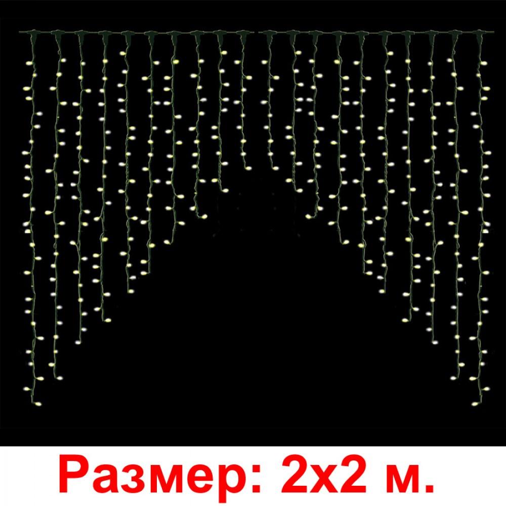 """LED-занавес """"Штора"""", белый, 2х2м"""