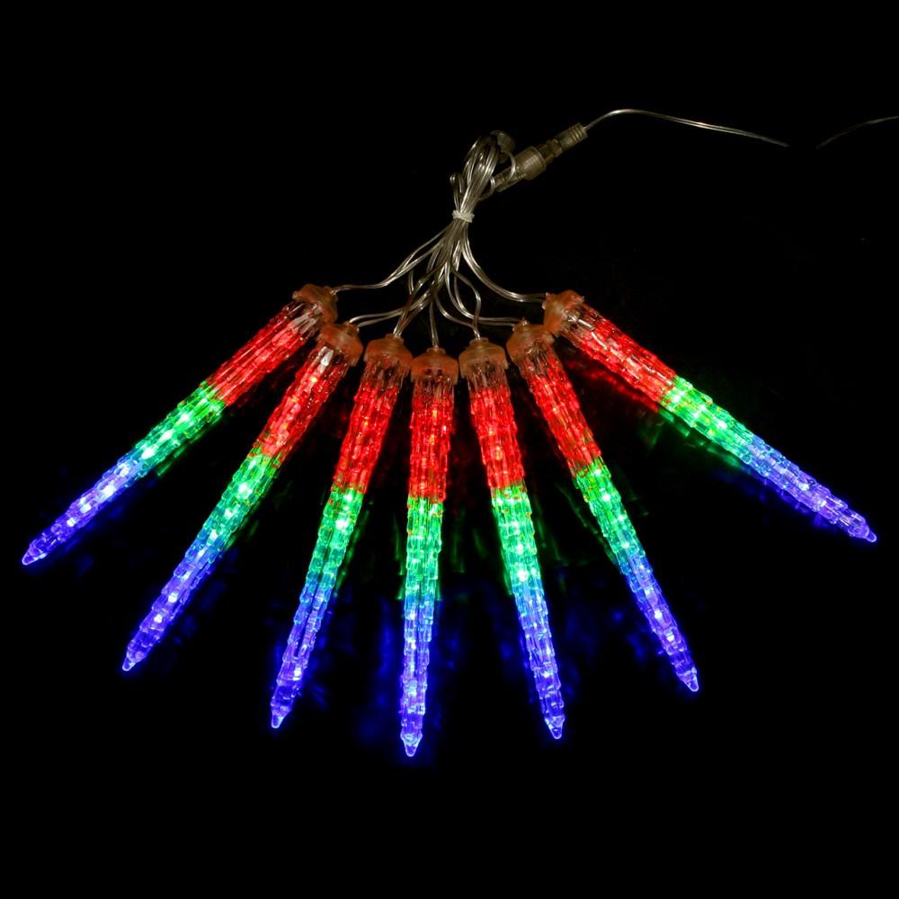"""LED электрогигрянда """"Тающие сосульки"""", разноцветные, 7 шт, 23 см"""
