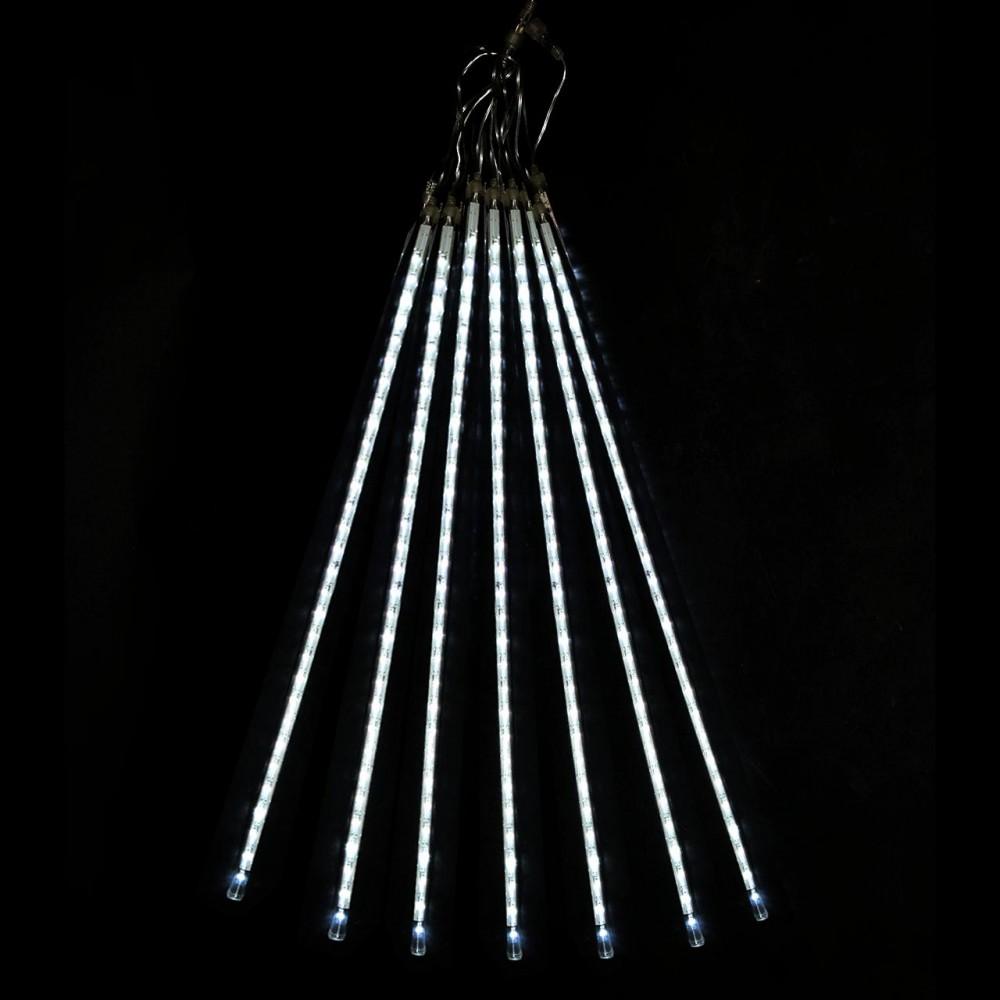 """LED электрогигрянда """"Тающие сосульки-трубки"""", белые, 7 шт, 70 см"""