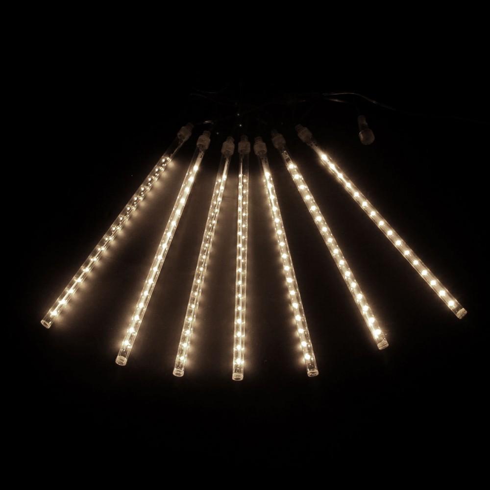 "LED электрогигрянда ""Тающие сосульки-трубки SMD 3528"", тёплые белые, 7 шт, 30см"