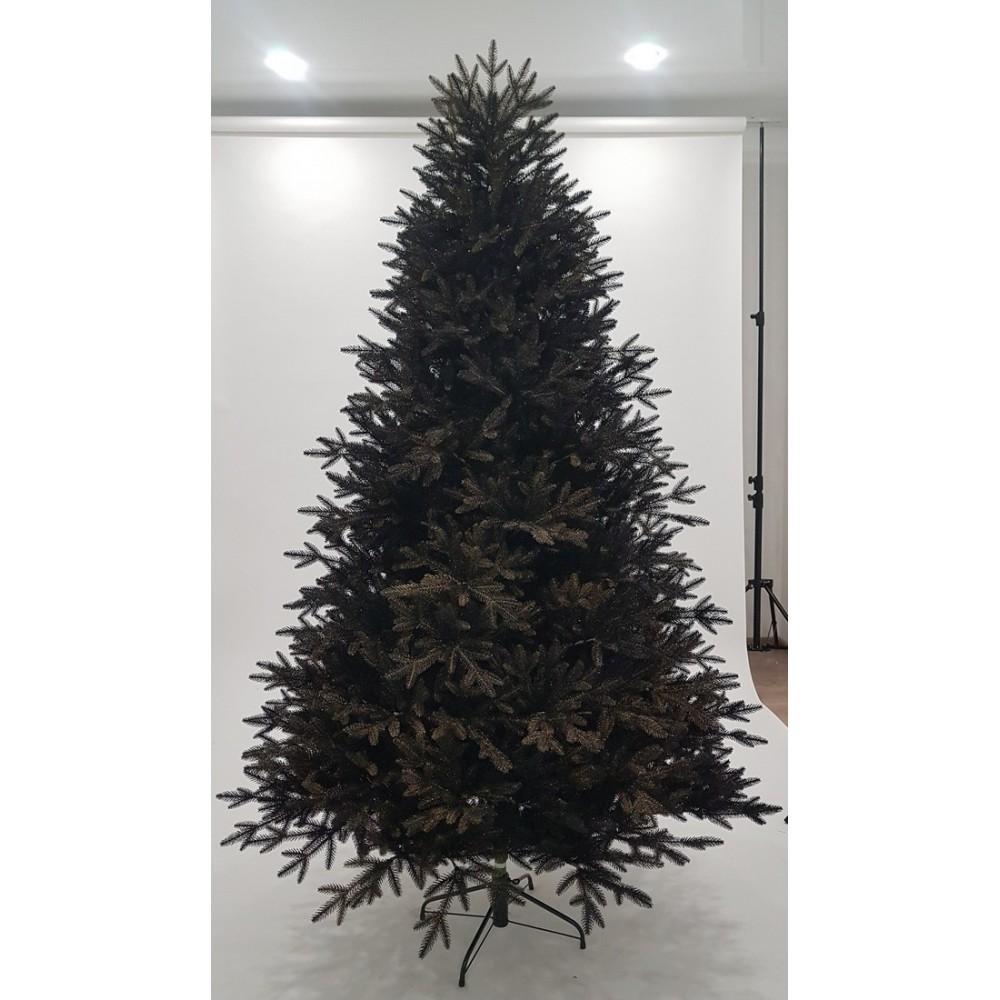 Ель Изумрудная черная с золотом 215 см