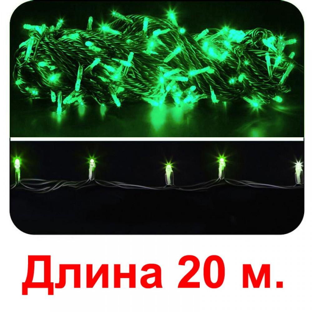 LED электрогигрянда - зелёные светодиоды, с 8-ми режимным контроллером