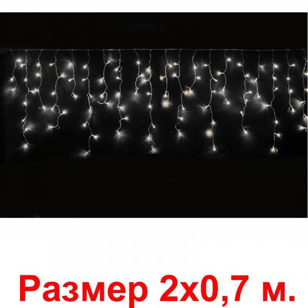 LED электрогигрянда Айсикл-мини 100 белых светодиодов, с контроллером