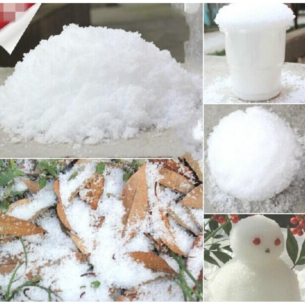 Волшебный снег искусственный 300г (10 литров снега) мс-15