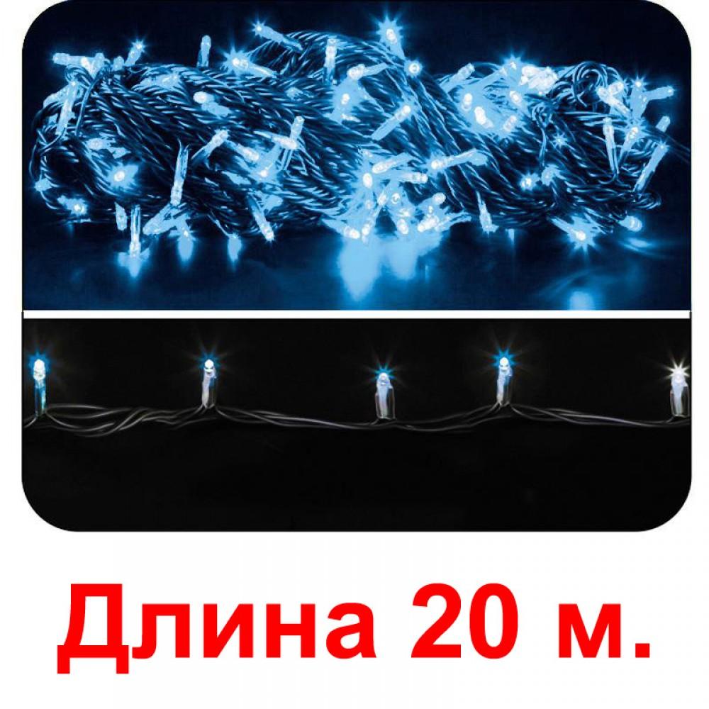 LED электрогигрянда - синие светодиоды, с 8-ми режимным контроллером