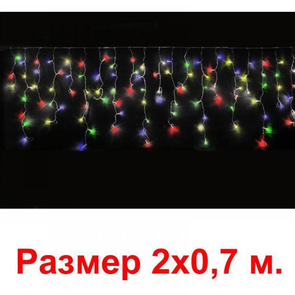 LED электрогигрянда Айсикл-мини 100 разноцветных светодиодов, с контроллером