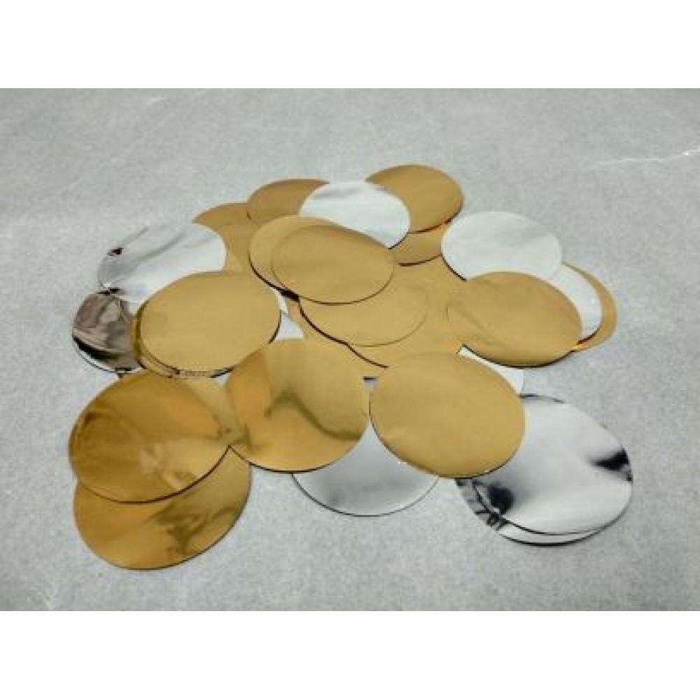 Конфетти круг золото-серебро 1 кг