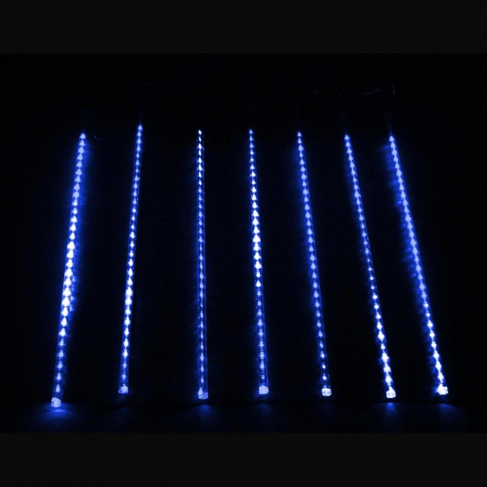 "LED электрогигрянда ""Тающие сосульки-трубки"", синие, 7 шт, 50 см"