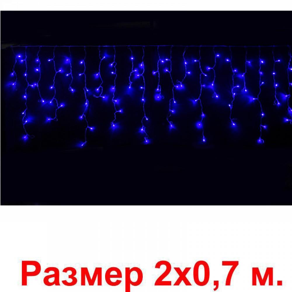LED электрогигрянда Айсикл-мини 100 синих светодиодов, с контроллером