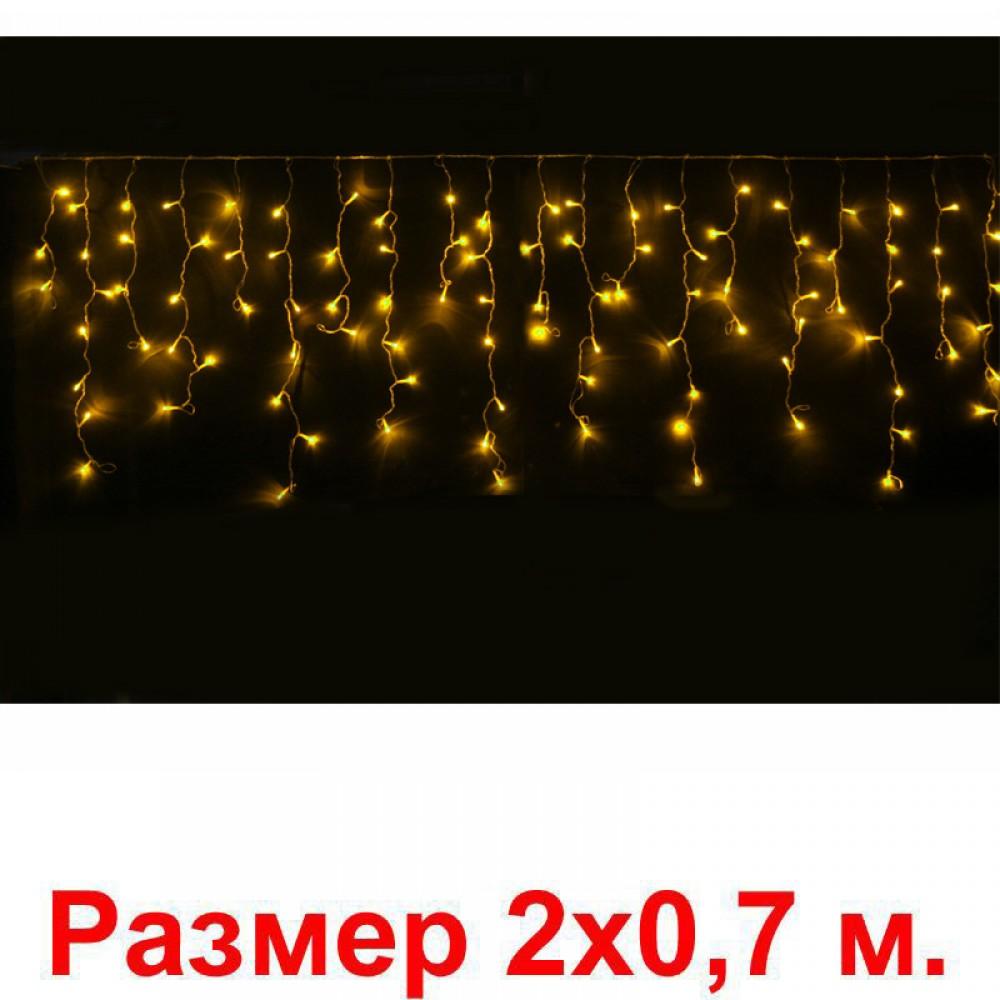LED электрогигрянда Айсикл-мини 100 желтых светодиодов, с контроллером