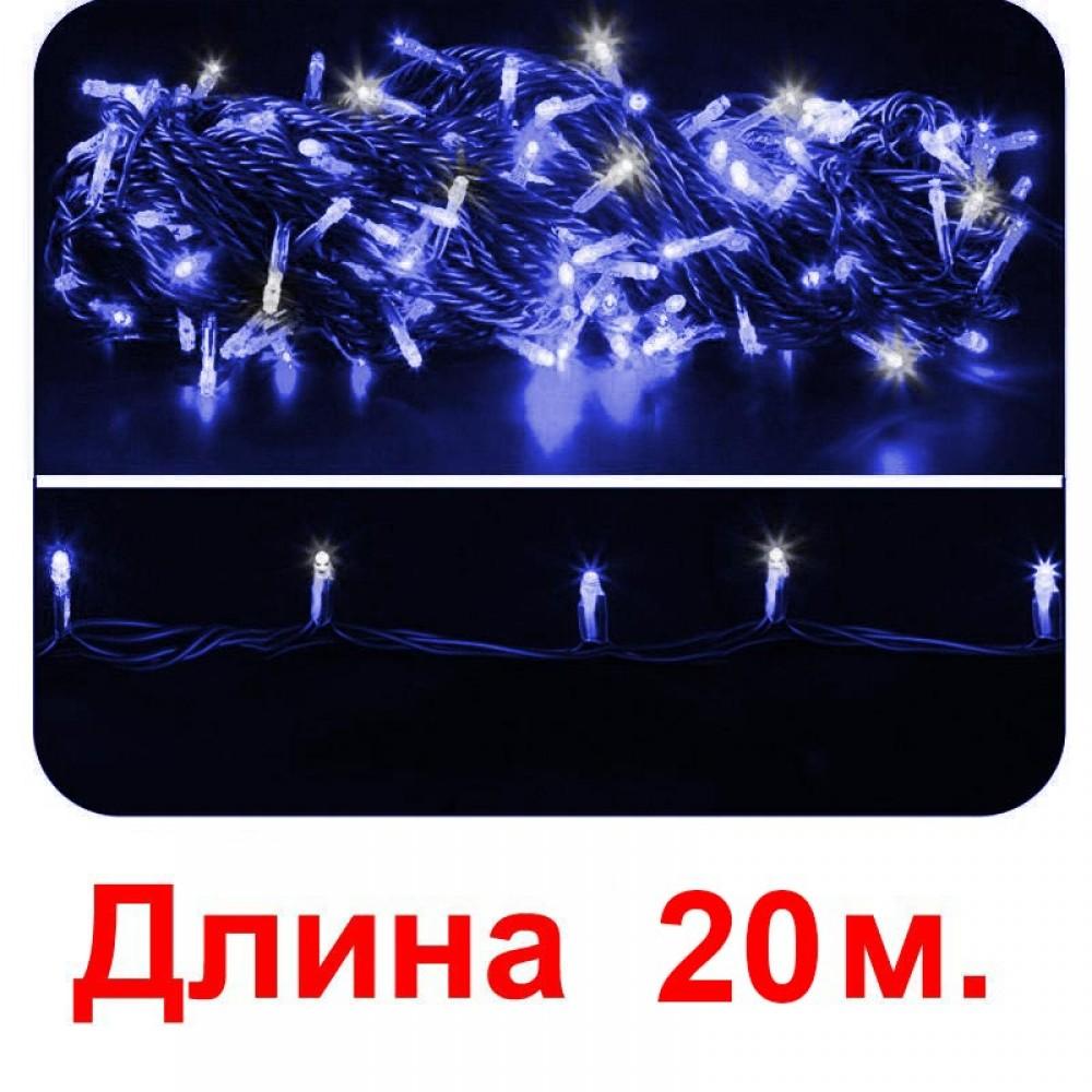 LED электрогигрянда - синие светодиоды и каждый 5-ый белый мерцающий