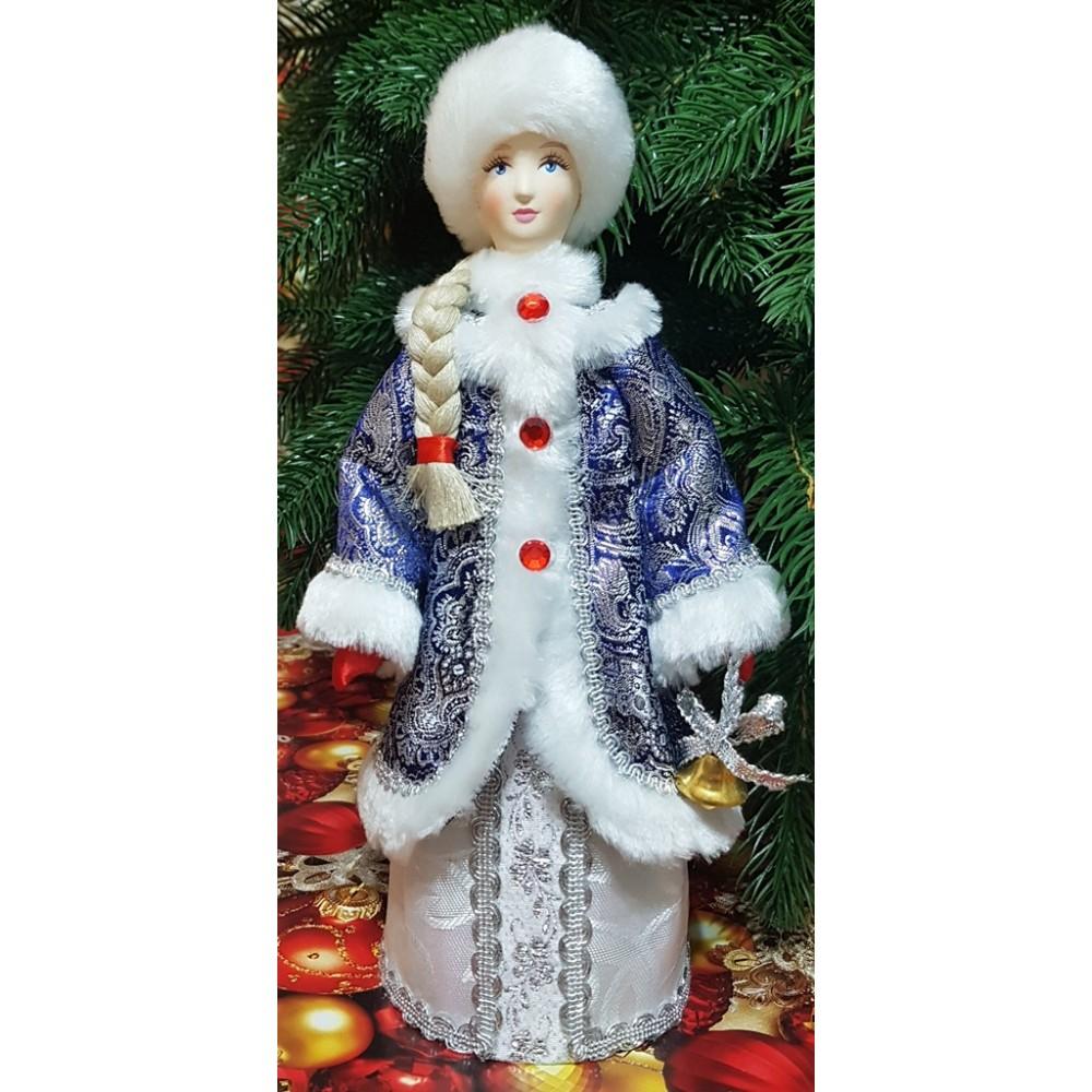Кукла Снегурочка под елку с колокольчиками 27 см
