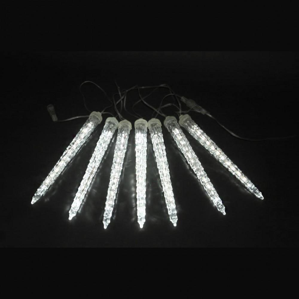 """LED электрогигрянда """"Тающие сосульки"""", белые, 7 шт, 23 см"""