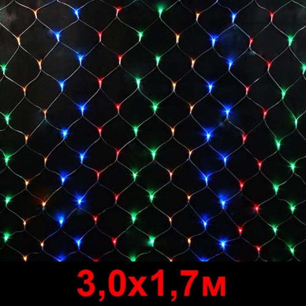 """LED электрогигрянда - сетка """"Домашняя"""" 3, 0х1, 7м разноцветный"""