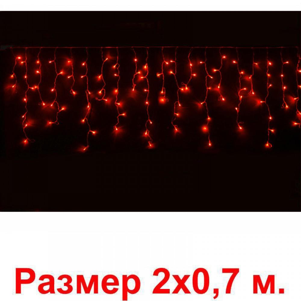 LED электрогигрянда Айсикл-мини 100 красных светодиодов, с контроллером