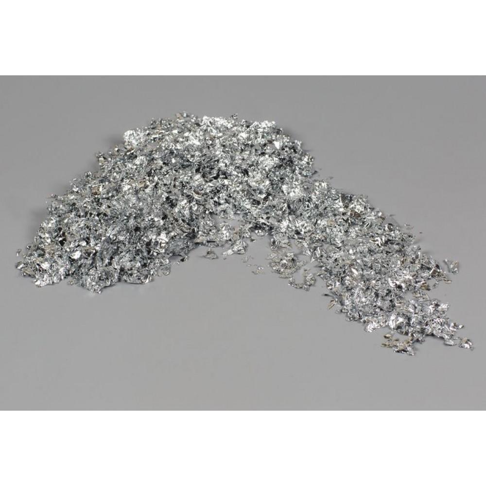 Крошка фольгированная серебро 1 кг