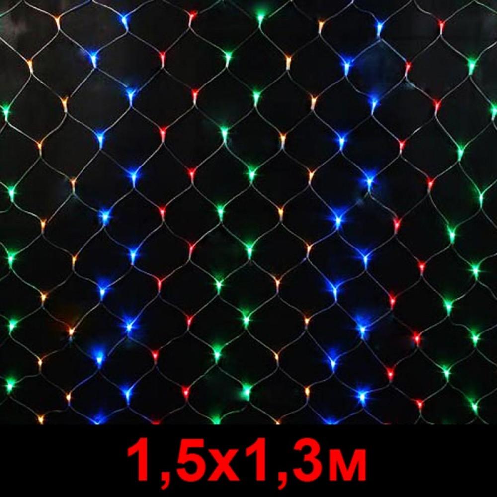 """LED электрогигрянда - сетка """"Домашняя"""" 1, 5х1, 3м разноцветная"""