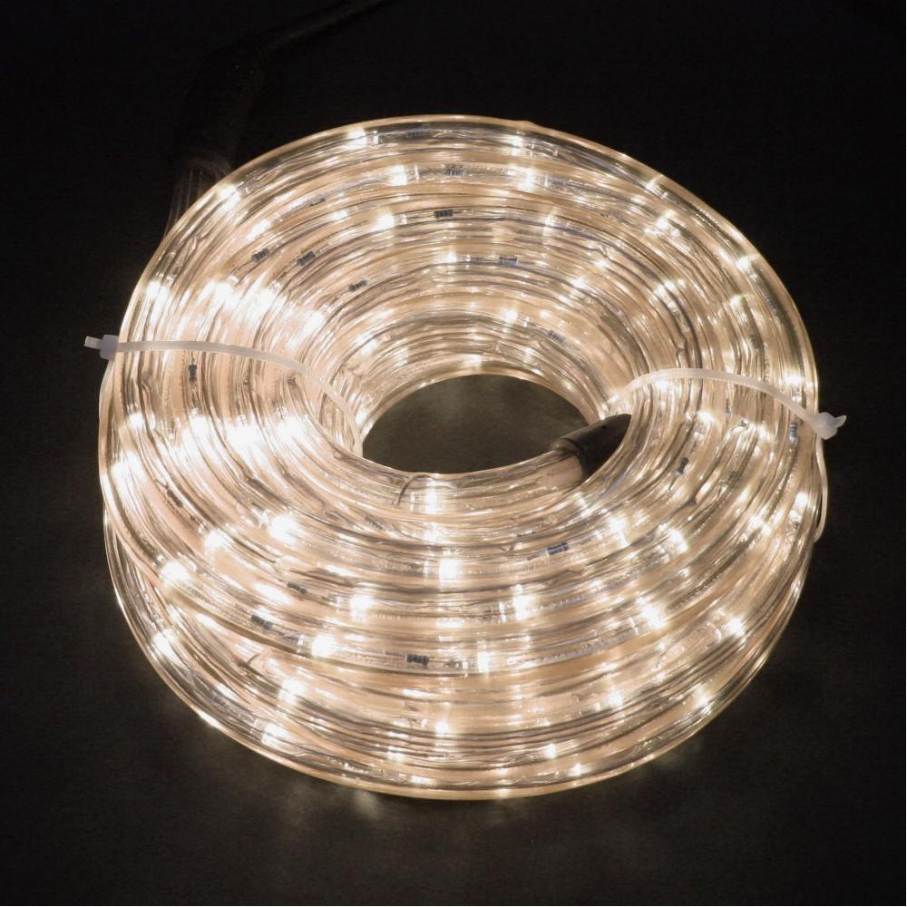 Светодиодный дюралайт 10м, 11мм, с тёплыми белыми светодиодами