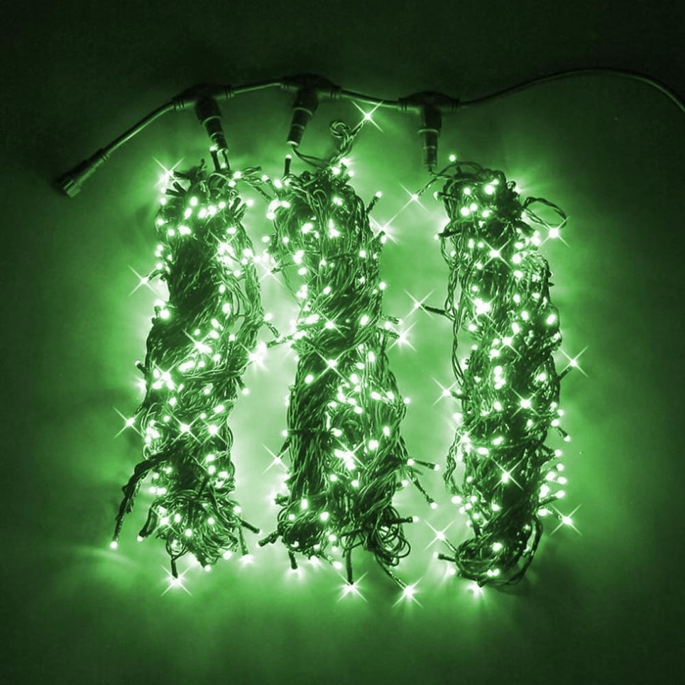 """Клип-лайт """"Спайдер 3х20м мерцающий"""" зелёный"""