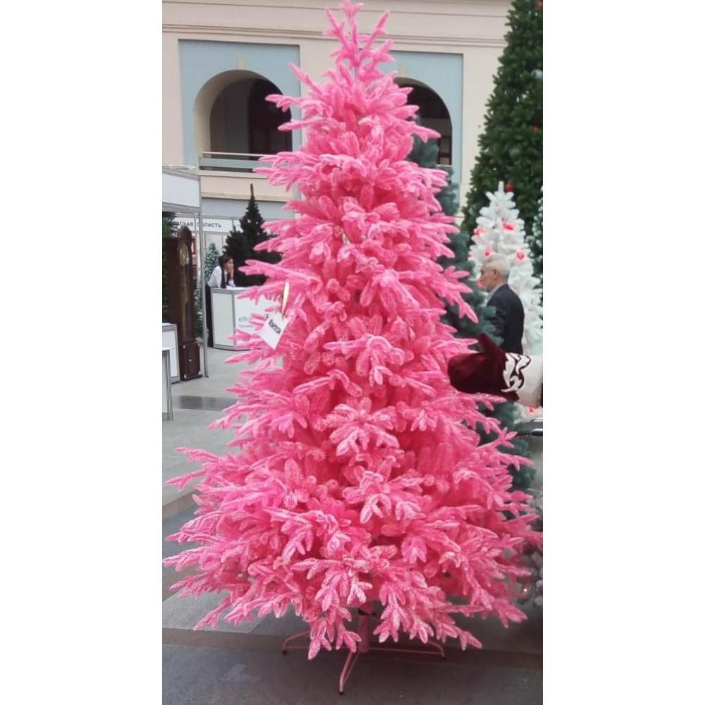 Ель Натуральная розовая Заснеженная 90 см