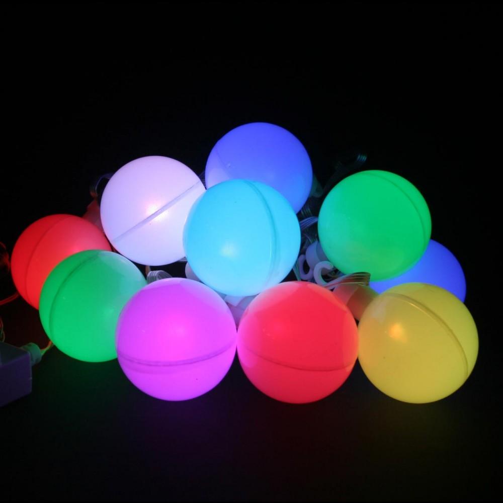 """LED электрогигрянда """"Шары 6см переливающиеся"""", 10 шаров с RGB светодиодами, 2, 5м"""