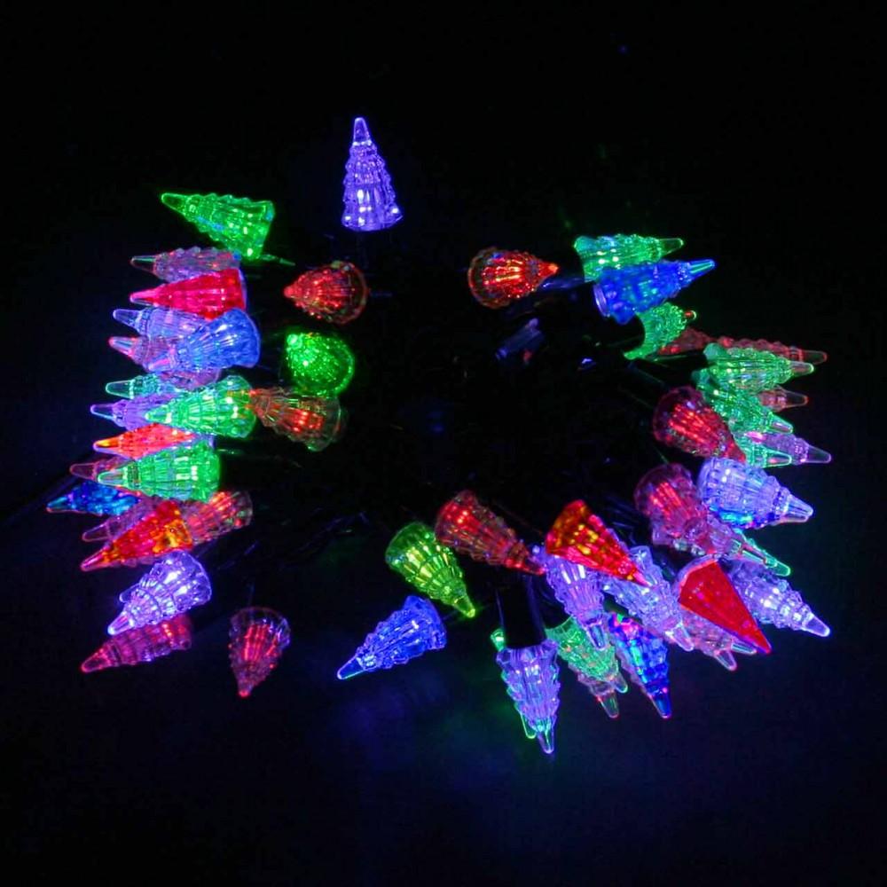 """LED электрогигрянда """"Ёлочки уличные красно-синие/красно-зелёные"""", 72 светодиода, 8м, (IP44)"""