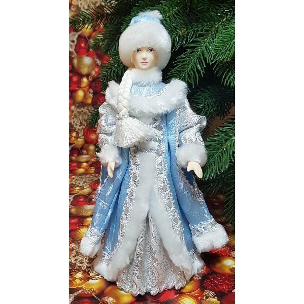 Кукла Снегурочка под елку с рукавами 27 см