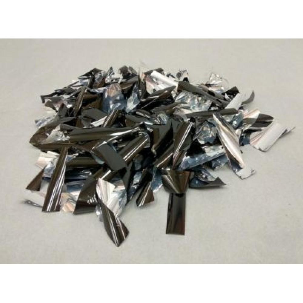 Конфетти прямоугольник 15х55 мм серебро 1 кг