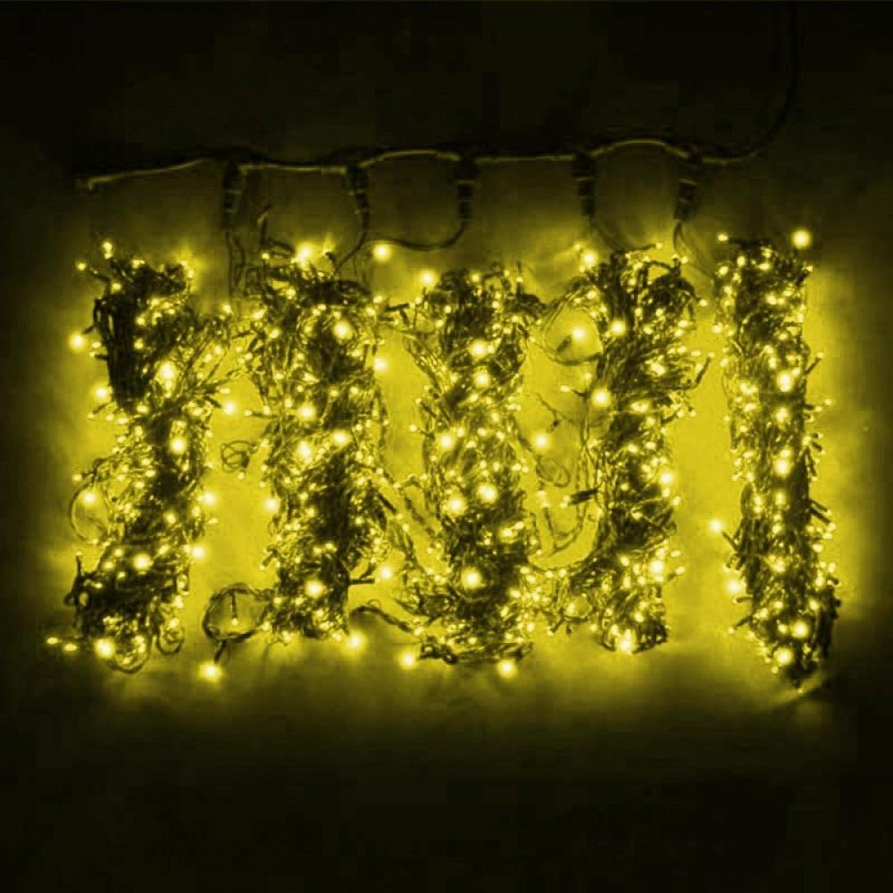 """Клип-лайт """"Спайдер 5х20м""""постоянного свечения, желтый"""