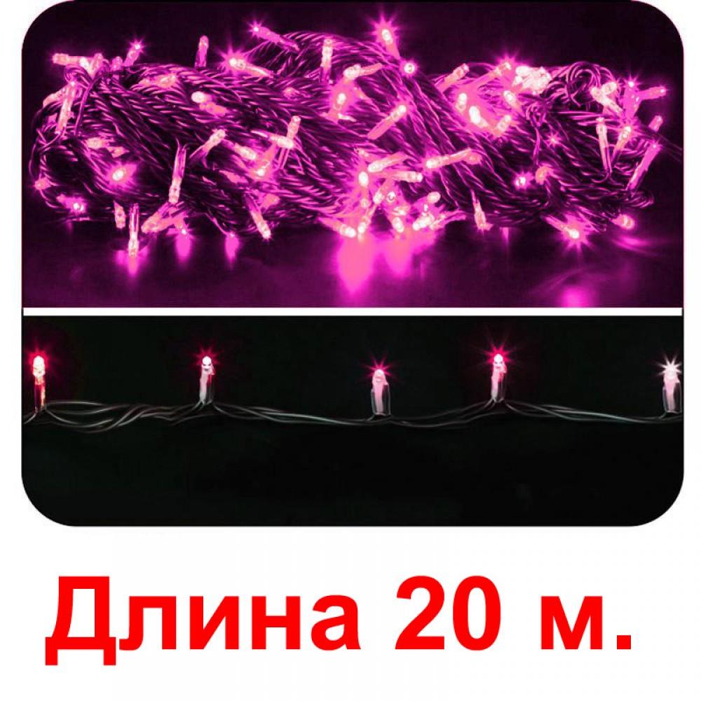 LED электрогигрянда - пурпурные светодиоды, с 8-ми режимным контроллером