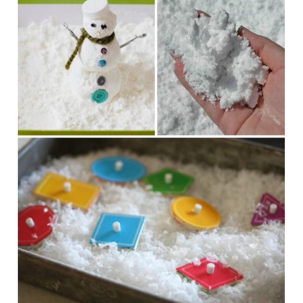 """Искусственный снег вискозный """"Сугробный снег"""" 1 кг."""