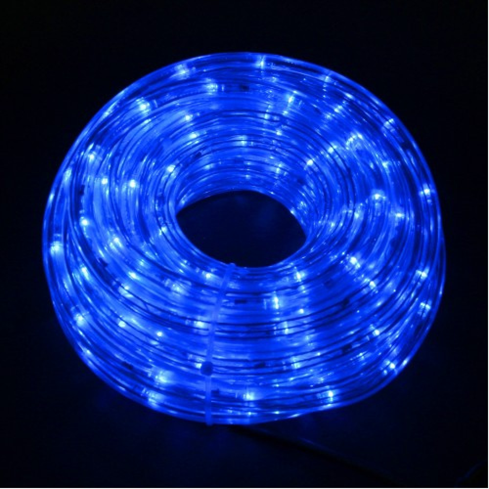 Светодиодный дюралайт 50м, 11мм, синий