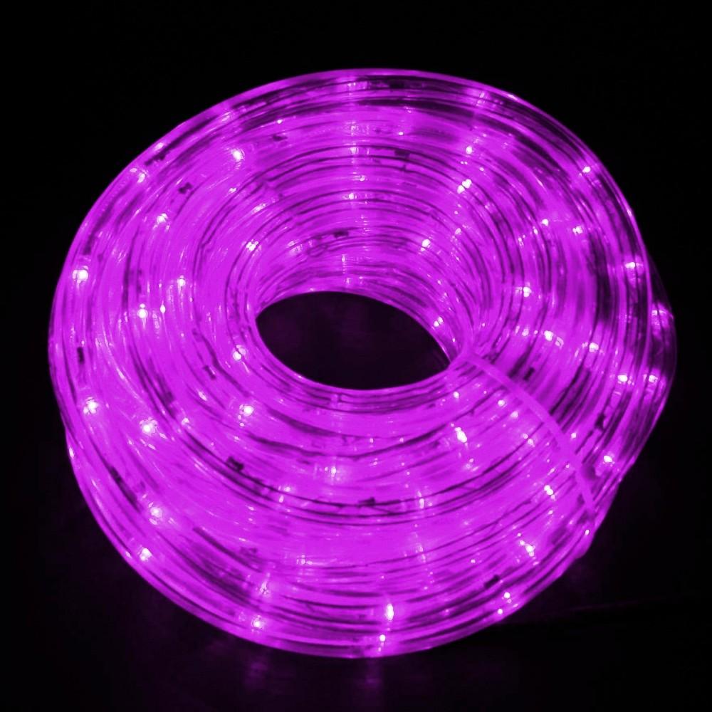 Светодиодный дюралайт 10м, 11мм, фиолетовый