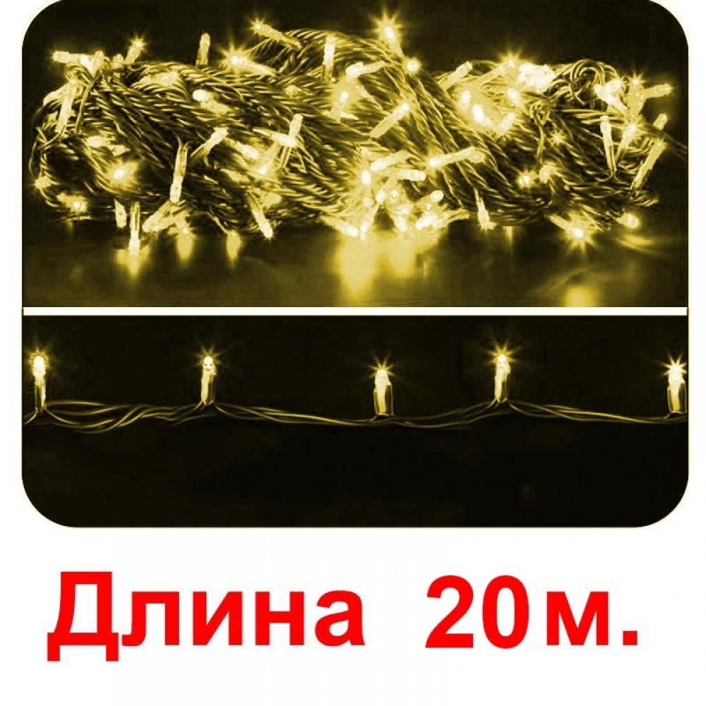 LED электрогигрянда - желтые светодиоды и каждый 5-ый мерцающий